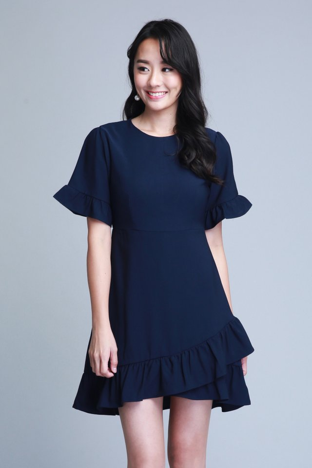 Madelyn Dress In Navy (Size S - Last piece!)