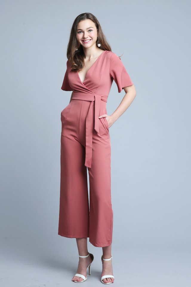 Tricia Jumpsuit In Rose (Size S - Last piece!)