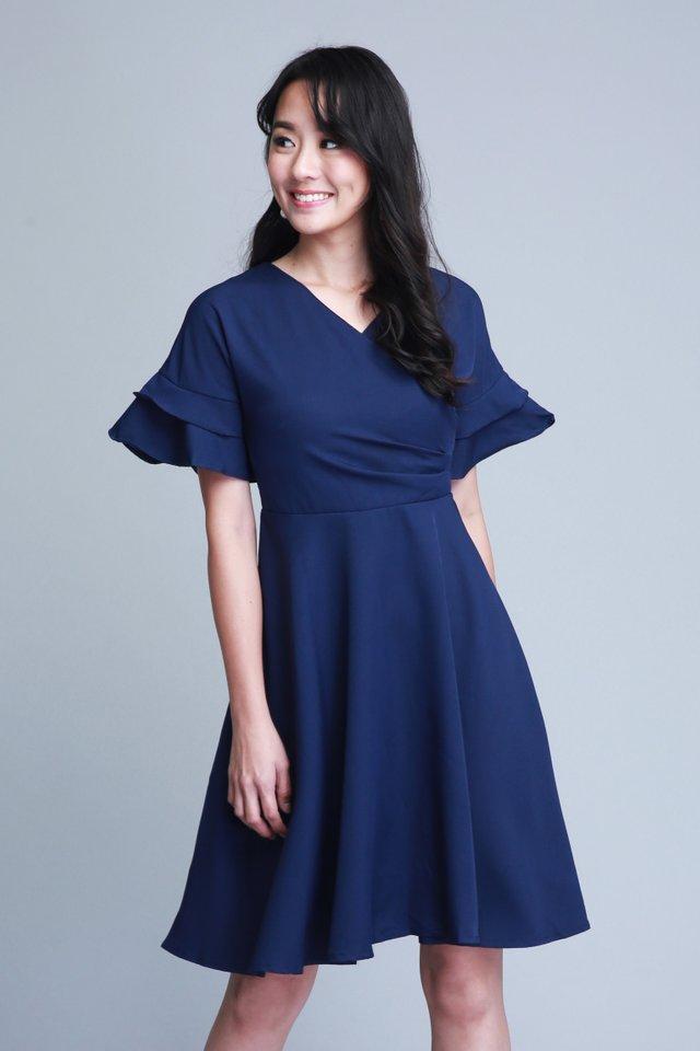 Gracelyn Dress in Navy