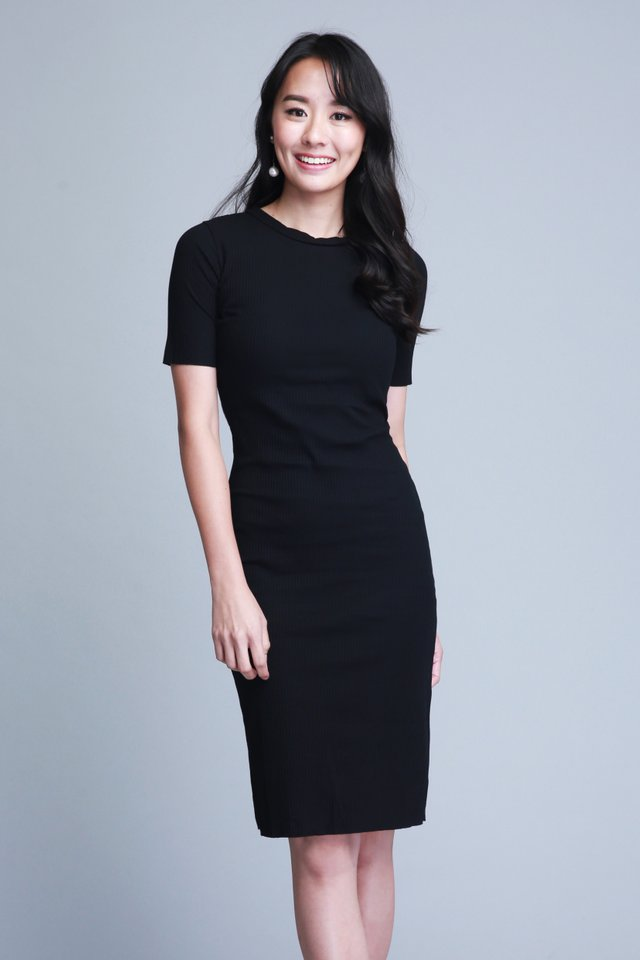 Velda Knit Dress in Black