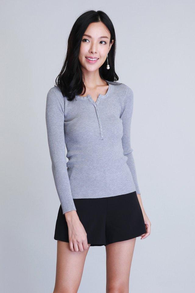 Cosy Knit Top in Grey