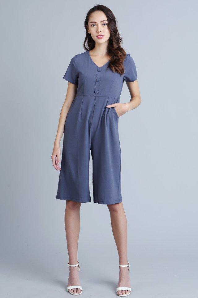 Bexley Jumpsuit in Steel Blue