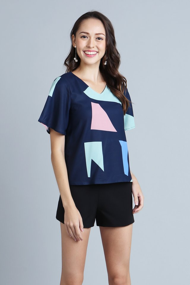 Colourful Emberie Top
