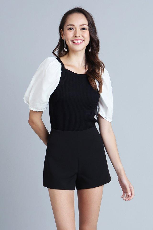 Aurelie Knit Top in Black