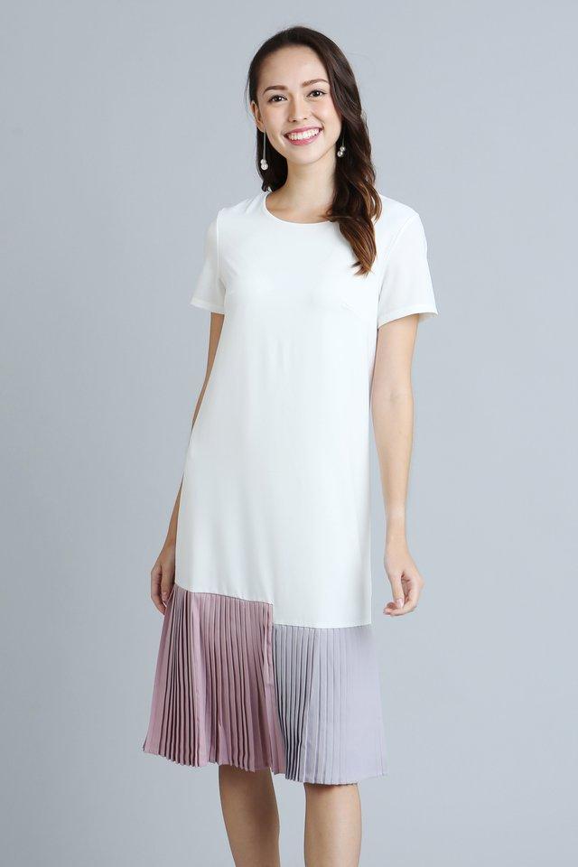 Brea Shift Dress in White (Size S - Last piece!)