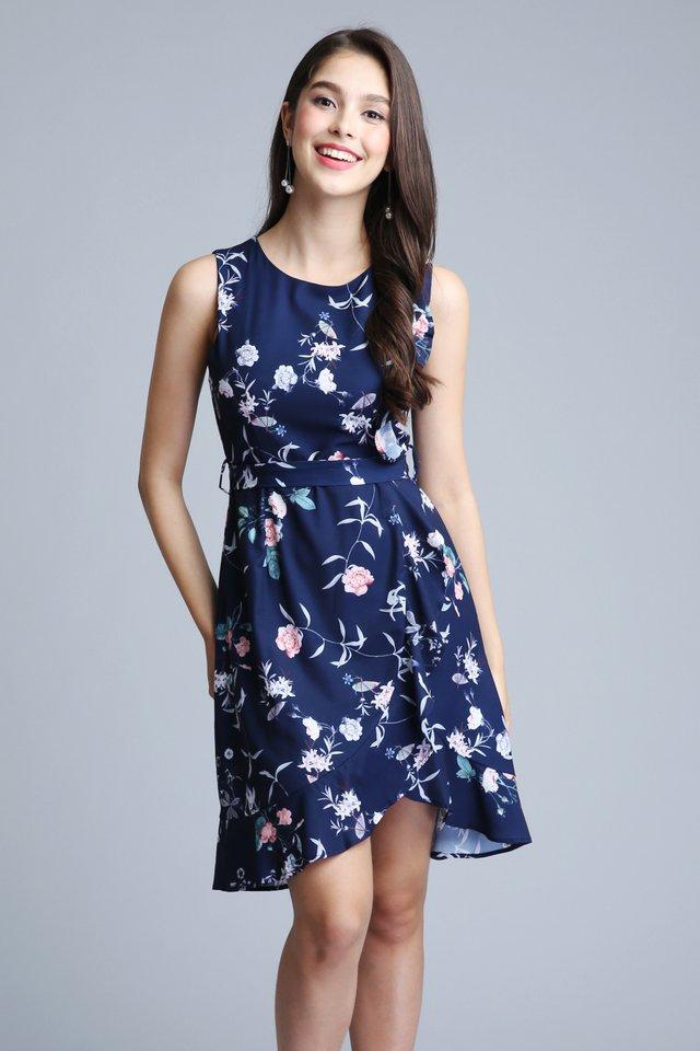 Secret Garden Dress in Navy