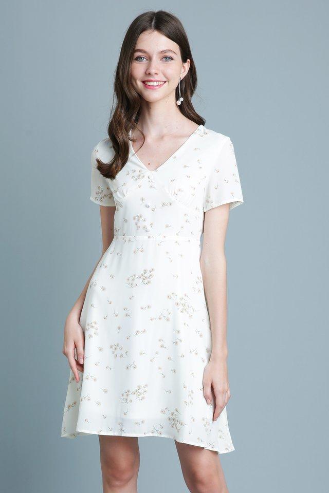 Claire Dress in Cream (Size L - Last piece!)