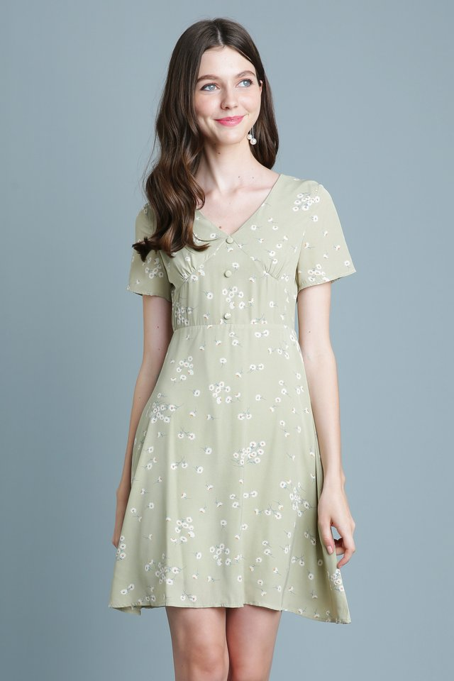 Claire Dress in Sage