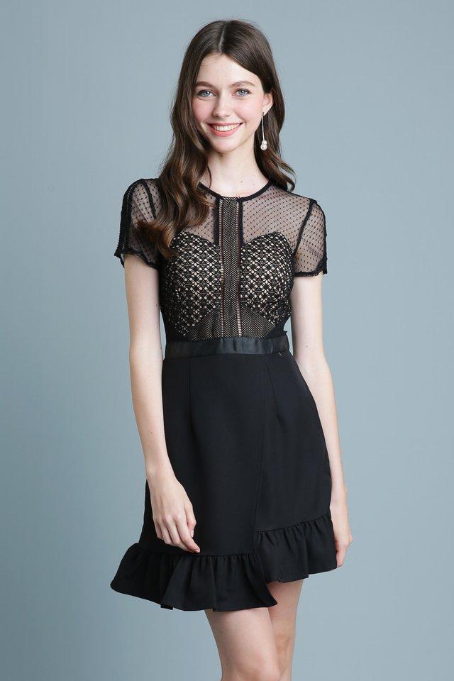 Belle Lace Dress in Black