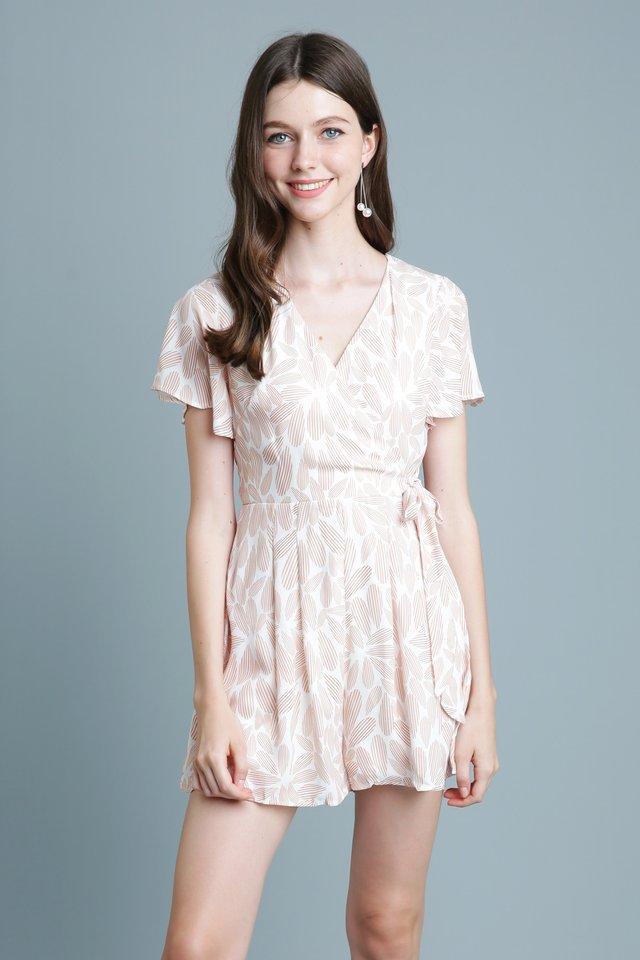 Naomi Kimono Romper In White